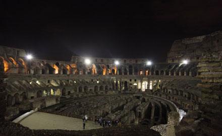 El Coliseo bajo la luna