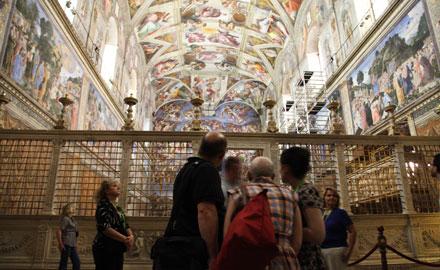 Visitas oficiales al Vaticano - La Capilla Sixtina por la mañana